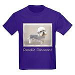 Dandie Dinmont Terrier Kids Dark T-Shirt