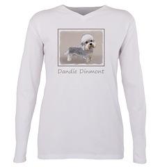 Dandie Dinmont Terrier Plus Size Long Sleeve Tee