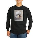 Dandie Dinmont Terrier Long Sleeve Dark T-Shirt