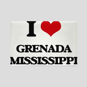 I love Grenada Mississippi Magnets