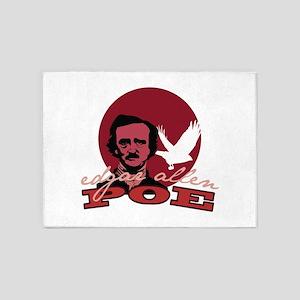 Edgar Allen Poe 2 5'x7'Area Rug