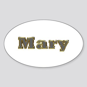 Mary Gold Diamond Bling Oval Sticker