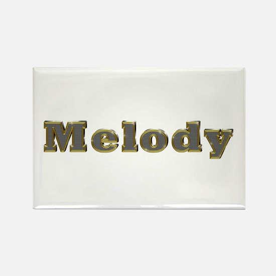 Melody Gold Diamond Bling Rectangle Magnet