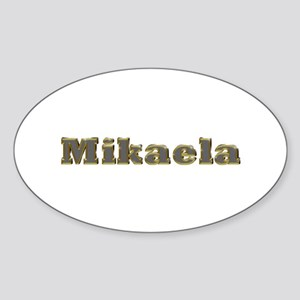 Mikaela Gold Diamond Bling Oval Sticker