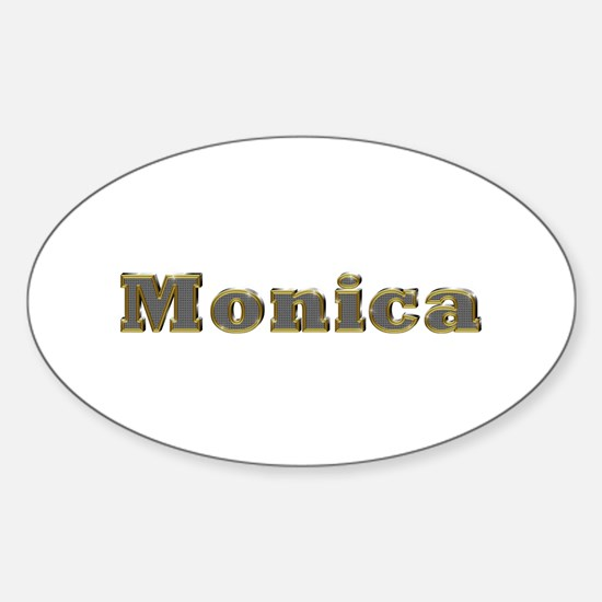 Monica Gold Diamond Bling Oval Decal