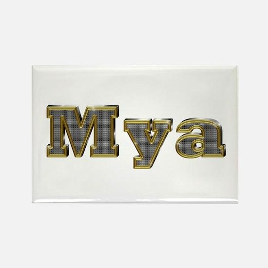 Mya Gold Diamond Bling Rectangle Magnet