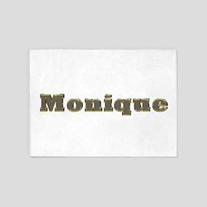 Monique Gold Diamond Bling 5'x7' Area Rug