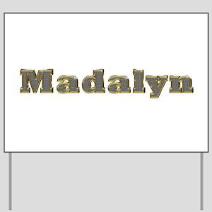 Madalyn Gold Diamond Bling Yard Sign