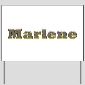 Marlene Gold Diamond Bling Yard Sign
