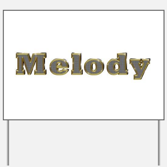 Melody Gold Diamond Bling Yard Sign