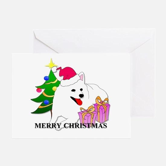 American Eskimo Christmas Greeting Card
