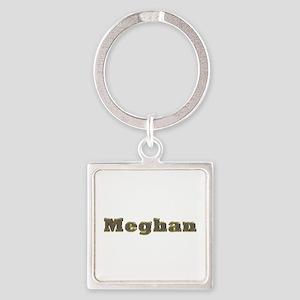 Meghan Gold Diamond Bling Square Keychain