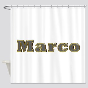 Marco Gold Diamond Bling Shower Curtain