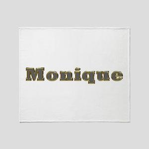 Monique Gold Diamond Bling Throw Blanket