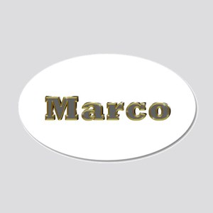 Marco Gold Diamond Bling 20x12 Oval Wall Decal