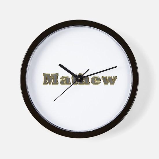 Mathew Gold Diamond Bling Wall Clock
