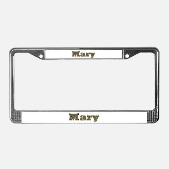 Mary Gold Diamond Bling License Plate Frame