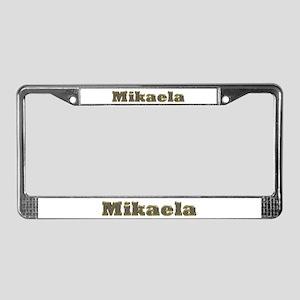 Mikaela Gold Diamond Bling License Plate Frame