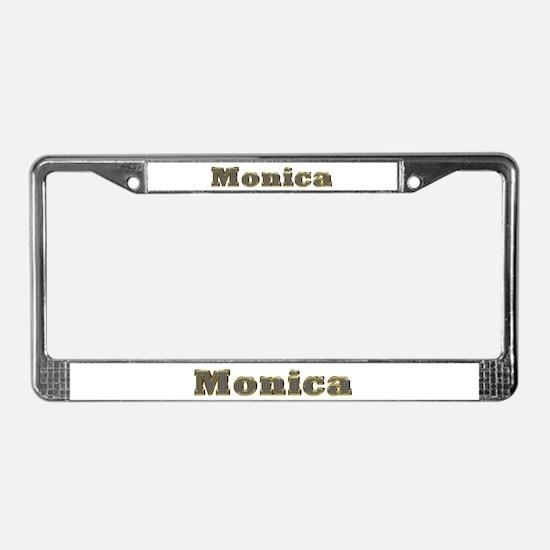 Monica Gold Diamond Bling License Plate Frame