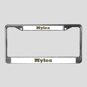 Myles Gold Diamond Bling License Plate Frame