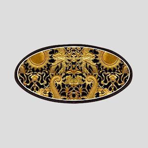 gold black antique pattern Patch