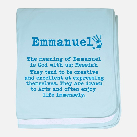 The Meaning of Emmanuel baby blanket