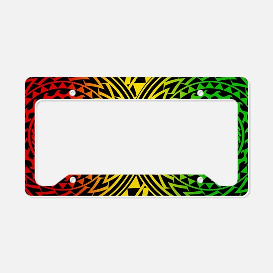 Island Tribal - Rasta License Plate Holder
