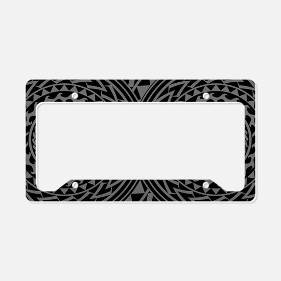 Island Tribal - Gray License Plate Holder