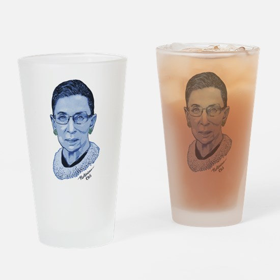 Notorious RBG II Drinking Glass