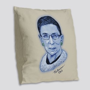 Notorious RBG II Burlap Throw Pillow