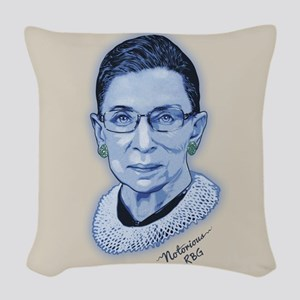 Notorious RBG II Woven Throw Pillow