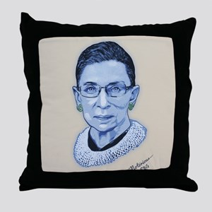 Notorious RBG II Throw Pillow