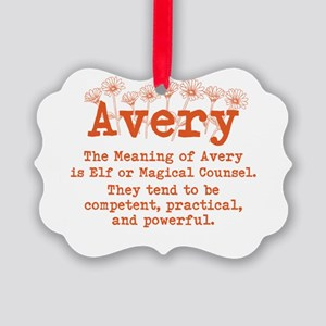 The Meaning of Avery Ornament