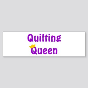 Queen of Quilting Bumper Sticker