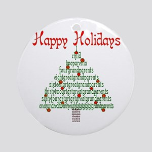 Genealogy NumbersTree Ornament (Round)
