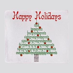 Genealogy NumbersTree Throw Blanket
