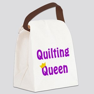 Queen of Quilting Canvas Lunch Bag