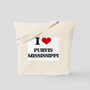 I love Purvis Mississippi Tote Bag