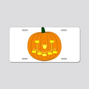 Genealogy Pumpkin Mini Aluminum License Plate