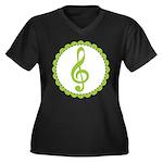 Music Treble Clef Gift Plus Size T-Shirt