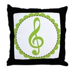 Music Treble Clef Gift Throw Pillow