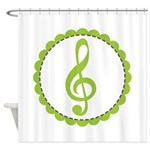 Music Treble Clef Gift Shower Curtain