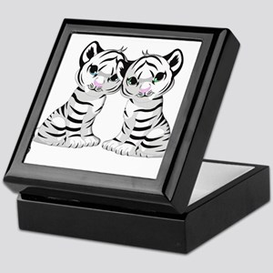 White Tiger Twins Keepsake Box