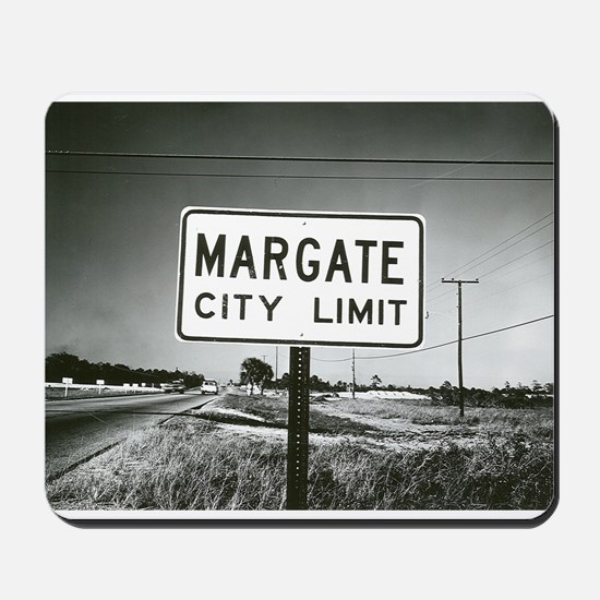 Margate City Limits Street Sign Mousepad