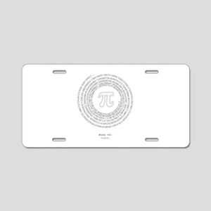 Pi day fashion theme Aluminum License Plate