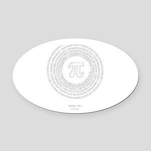 Pi day fashion theme Oval Car Magnet