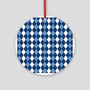 Blue Arglye Ornament (Round)