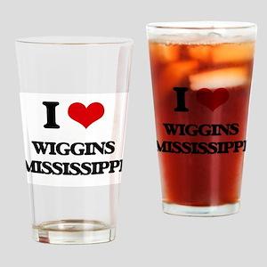 I love Wiggins Mississippi Drinking Glass