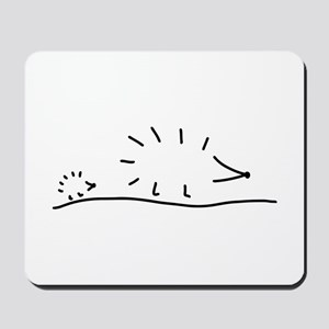 hedgehogs lay a track Mousepad