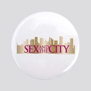 """Sex and the City Skyline 3.5"""" Button"""